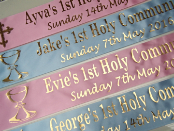 First Holy Communion Banner Personalised